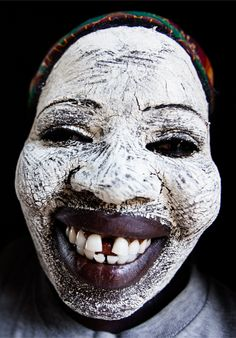 """Africa   """"Mussiro"""".  n northern Mozambique, you might see some women with their faces covered in this natural white mask called """"mussiro"""". They claim that it protects them from the sun, keeps away acne, and makes their skin softer   ©Constantine Savvides"""