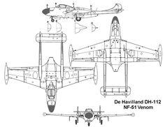 42 best de havilland jet images on pinterest military aircraft dh 112 venom blueprint malvernweather Image collections