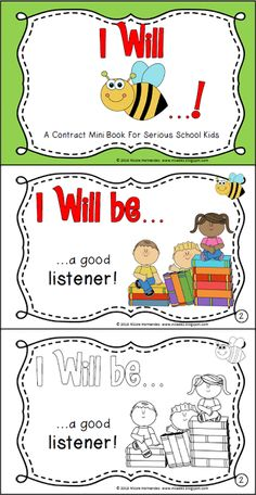 A Contract Mini Book For Serious School Kids