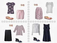 Warm Weather in Navy and Pink: A Long Weekend, or a Week?