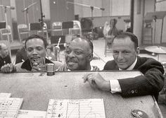 Quincy Jones, Count Basie, and Frank Sinatra circa 1965!
