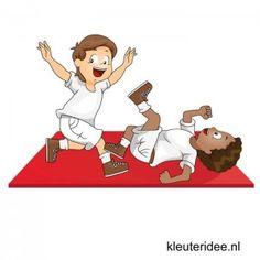 Gymles voor kleuters, eenvoudige judoles 1, kleuteridee.nl