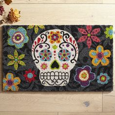 Halloween Sugar Skull Doormat