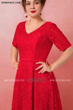 10% off now Custom Gorgeous Long Red Full Lace Wedding Party Dress with Short Sleeves Plus Size High Quality at GemGrace. Click to learn our pro custom-made service for wedding dress, formal dress. View Plus Size Wedding Dresses for more ideas. Stable shipping world-wide. Wedding Party Dresses, Lace Wedding, Mother Of The Bride Looks, Affordable Dresses, Plus Size Wedding, Dress Formal, Custom Dresses, Dresses Online, Short Dresses