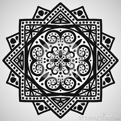 Mandala Black White Stock Photos, Images, & Pictures – (1,576 Images) - Page 6