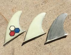 Set Of 3 Vintage Al Merrick Surfboard Longboard Fins #AlMerrickChannelIslands