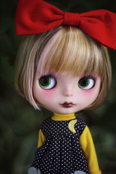 Red Bow Blythe #blythedolls #fairyfoufrou