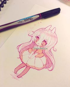 doodle with sharpie fineliner pen~ you can buy in most art stores but it's cheaper if you buy at walmart (/^▽^)/ & added some colour with copic marker. #doodle #sketch #chibi #sharpie #copicmarker ----------- •please read tags before asking what I use c: •Artwork (c) yoaihime ~All Rights Reserved ♡ •Do not steal, trace, or reproduce/redraw my artwork~ ♡Thank you for all the kind comments, I may not always reply to every one but I always read and appreciate them ♡