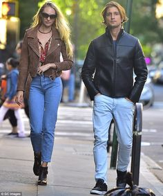 Model couple:Candice Swanepoel stepped out with fiance Hermann Nicoli in New York on Wednesday