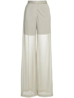 sheer high-waisted trousers