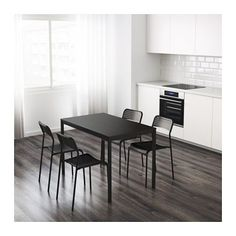 IKEA TÄRENDÖ Table €32 Black 110x67 cm The melamine table top is moisture resistant, stain resistant and easy to keep clean.