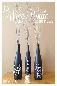 Beyond the Cork: DIY Wine Bottle Wedding Centerpieces by lindsay0