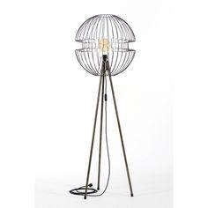 Lampa z drutu stojąca Tripod Imperium - JABBA Design Tripod, Home Appliances, Flooring, Retro, Design, Homes, House Appliances, Appliances