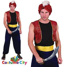 #Adults mens #arabian nights bandit genie aladdin fancy dress #party costume,  View more on the LINK: http://www.zeppy.io/product/gb/2/301950226065/