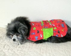 Small Dog's Dress  Flannel Made to Order by BloomingtailsDogDuds, $23.95