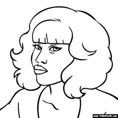 nicki minaj coloring page for realz