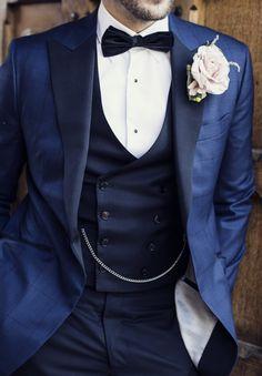 Tux Groom Bowtie Rose Buttonhole Elegant Classic Rustic Touches Wedding http://studiorouge.co/