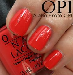 7e352f4a492 OPI Aloha from OPI Nail Polish Swatches    Hawaii Collection for Spring  2015 Opi Nail