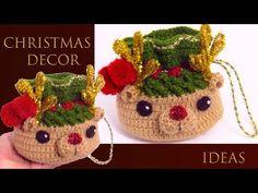 Crochet Mini Gift Bag For Christmas - Crochet Ideas Crochet Christmas Hats, Christmas Minis, Christmas Angels, Christmas Shirts, Christmas Stockings, Christmas Crafts, Christmas Decorations, Xmas, Christmas Ornaments