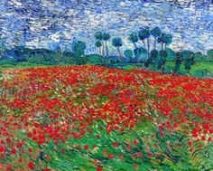 Poppy Field by Vincent van Gogh - Fine Art Print - Museum Quality in Art, Prints | eBay