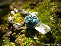 Crystal fairy talisman with labradorite beads https://www.facebook.com/nibirudesign