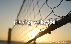 My dad agreed to let me get a volleyball net this summer. Gonna practice!! x)