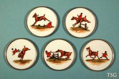 Cyril Gorainoff - Fox Hunting Scene Coasters (5)