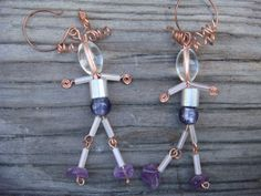 Out for a Walk Earrings by IrenSong on Etsy, $16.00