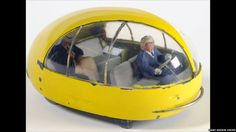 A Futurama car designed by Norman Bel Geddes for the NY 1939 World's Fair