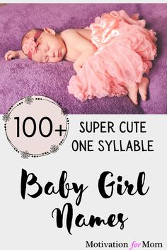 This list has over 100 ideas for one syllable girl names that are short and sweet and easy to fall in love with. Some of these are common baby girl names, and some of these are unique baby girl names. Whether you are looking for nicknames, or middle names, or just short first names for your baby girl, this list will give you plenty of ideas for one syllable baby girl names! One Syllable Girl Names, Sweet Baby Girl Names, Gender Neutral Names, Unusual Baby Names, Potty Training Tips, Parent Resources, Mom Blogs, Parenting Hacks, New Baby Products