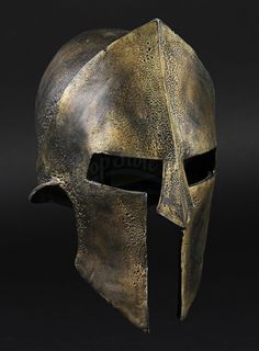Spartan Helmet Warrior Helmet, Spartan Warrior, Armadura Medieval, Greek Helmet, Spartan Tattoo, Ancient Armor, Greek Warrior, Armor All, Knight Armor