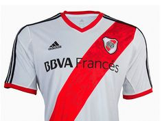 River Plate Home White Jersey Shirt Soccer Shirts, Sports Shirts, Soccer Jerseys, Football Soccer, Psg, Rugby, Football Outfits, Football Clothing, Sports Training