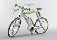 IXOUSART: Ingenio: Bici que usa la fotosíntesis para purificar el aire