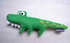 Le Doudou Crocodile / Peluche fait main poupée par FunkySunday, €20.00