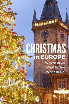 Christmas in Europe.  Click to find out where to go, what to see and what to do to experience a white Christmas in Europe.