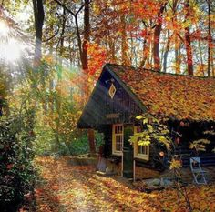 AUTUMN ❀ Article Physique: Immediately vogue represents not solely garments however the jewellery an Cottage In The Woods, Cabins In The Woods, Snow Cabin, Wooden Swings, Getaway Cabins, Log Cabin Homes, Forest House, Cabins And Cottages, House Goals