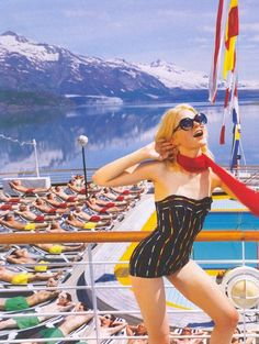 """""""Cruising""""; Jessica Stam photographed by Jason Schmidt for Vogue UK"""