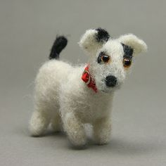 Make an Animal Menagerie  in Miniature  -  Fish, Birds, Dogs, Cats....: Make Poseable Miniature Dogs With NeedleFelt Techniques