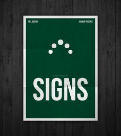 Semi-minimal movie poster of Signs by Rubenski Gooljar