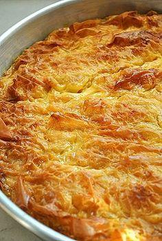 γαλατόπιτα/Puff pastry custard pie