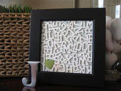 framed letter collage - fun decoration