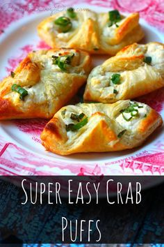 Super Easy Crab Puffs MUST Make Recipe! You will not believe how inexpensive this recipe is — and how easy this recipe is to make. Very Easy Crab Recipe – 30 minute recipe – Super Simple Side Recipe Too! Finger Food Appetizers, Appetizers For Party, Finger Foods, Appetizer Recipes, Crab Appetizer, Seafood Appetizers, Simple Appetizers, East Appetizers, Recipes Dinner