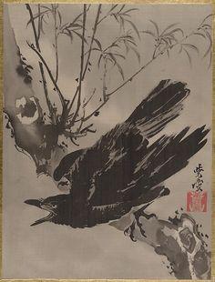 木に鴉図 <br/>Crow on a Branch