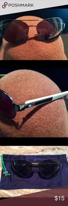 Women's Tommy Hilfiger Sunglasses Sunglasses with dust bag.  Dark lenses. Tommy Hilfiger Accessories Sunglasses