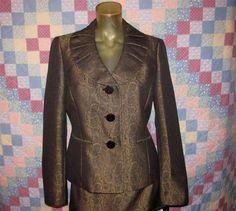 Le Suit Women's Career 2Pc Business Suit Set Skirt & Blazer Jacket Size 8 (NEW) #LeSuit #RockHillSkirtSuit