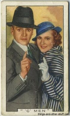 James Cagney and Margaret Lindsay 1936 Gallaher Film Episodes Tobacco Card #38 on Immortal Ephemera  http://immortalephemera.zippykid.netdna-cdn.com/wp-content/gallery/1936-gallaher-film-episodes/38a-cagney-lindsay.jpg