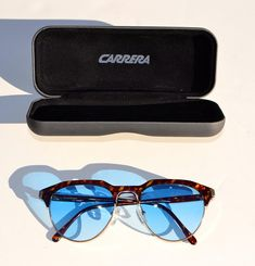 e3894f1bf37 Vintage Carrera 5475 sunglasses made in Austria with brand new bleu shaded  lenses. Etsy