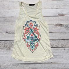 SALE Cute floral design tank Cute floral design tank.  NWOT.  100% polyester. Tops Tank Tops