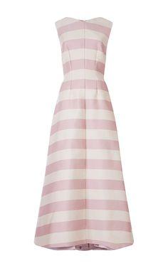 Fiona Striped Silk Blend Dress by EMILIA WICKSTEAD Now Available on Moda Operandi