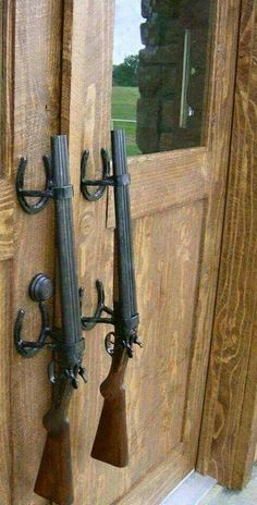 Double barrel shotgun handles